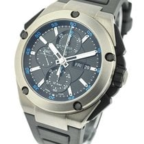 IWC IW386503 Ingenieur Double Chronograph - Titanium on Rubber...