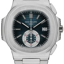 Patek Philippe 5980/1A Nautilus Chronograph with Blue Dial