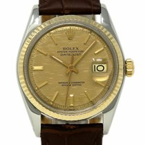 Rolex Datejust 1601 36mm Steel Yellow Gold Champagne Automatic...