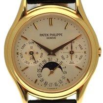 Patek Philippe 36mm Remontage automatique 1993 occasion Perpetual Calendar Argent