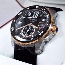 Cartier Calibre de Cartier Diver Сталь 42mm Чёрный Римские