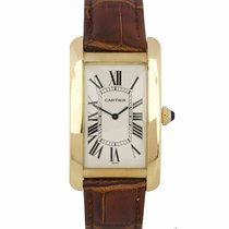 Cartier Tank Américaine Yellow gold 27mm White Roman numerals United States of America, New York, Massapequa Park