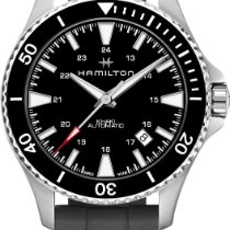 Hamilton H82335331 Steel Khaki Navy Scuba new