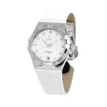 Omega Constellation Quartz Stahl 38mm Weiß