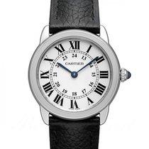 Cartier Ronde Croisière de Cartier Stahl 29mm Silber