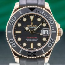 Rolex Yacht-Master 37 Rose gold 37mm Black Arabic numerals