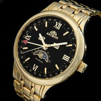 Aquastar Gold/Steel 39mm Quartz ASTRON MONDPHASE POINTER-DATE KALENDARIUM HERREN LUXUS PHASE pre-owned