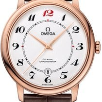 Omega Red gold Automatic White Arabic numerals 39.5mm new De Ville Prestige