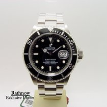 Rolex Silver Automatic Black No numerals 40mm pre-owned Submariner Date