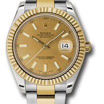 ロレックス (Rolex) rolex 116333 chio  datejust2 twotone gold and steel