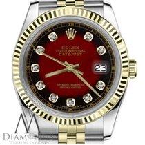 Rolex Lady-Datejust Золото/Cталь 31mm Красный