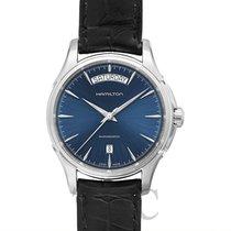 ハミルトン (Hamilton) Jazzmaster Day Date Auto Blue Steel/Leather...