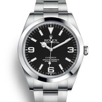 Rolex Explorer Steel 39mm Black Arabic numerals United Kingdom