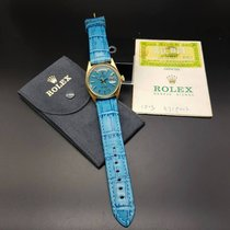 """Rolex Vintage 18k gold Day-Date """"Blue Stella dial"""" Ref: 1803"""