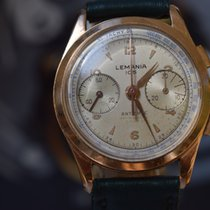 Lemania Roségoud 33mm Handopwind 105 tweedehands