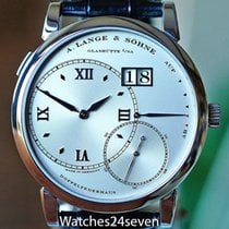 A. Lange & Söhne Grand Lange 1 pre-owned Silver Date Crocodile skin