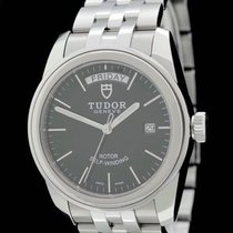 Tudor Glamour Date-Day pre-owned 39mm Black Date Steel