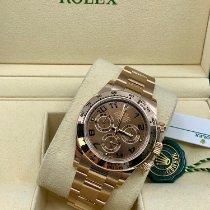 Rolex Daytona Ruzicasto zlato 40mm Smedj Bez brojeva