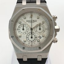 Audemars Piguet Royal Oak Chronograph pre-owned 39mm White Chronograph Date Crocodile skin