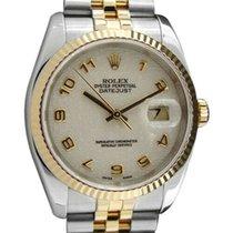 Rolex Datejust 36mm Weiß Arabisch