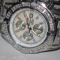 Breitling Super Avenger pre-owned 48mm Mother of pearl Chronograph Date Tachymeter Steel