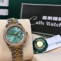 Rolex Cally - [New 2017 新款面] 28mm Datejust 279383G Green 綠鑽石