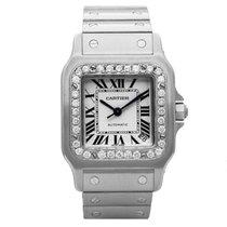 Cartier Santos Galbee Xl W20098d6 Mens Automatic Watch Diamond...