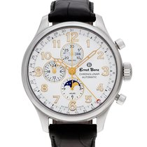Ernst Benz Chronolunar 10300 stainless steel White dial 47mm...