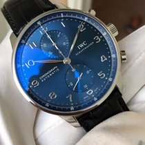 IWC Portuguese Chronograph Staal 40.9mm Blauw Arabisch