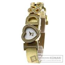 Dolce & Gabbana ドルチェアンドガッバーナ I Love D&G 腕時計 GP/革 レディース