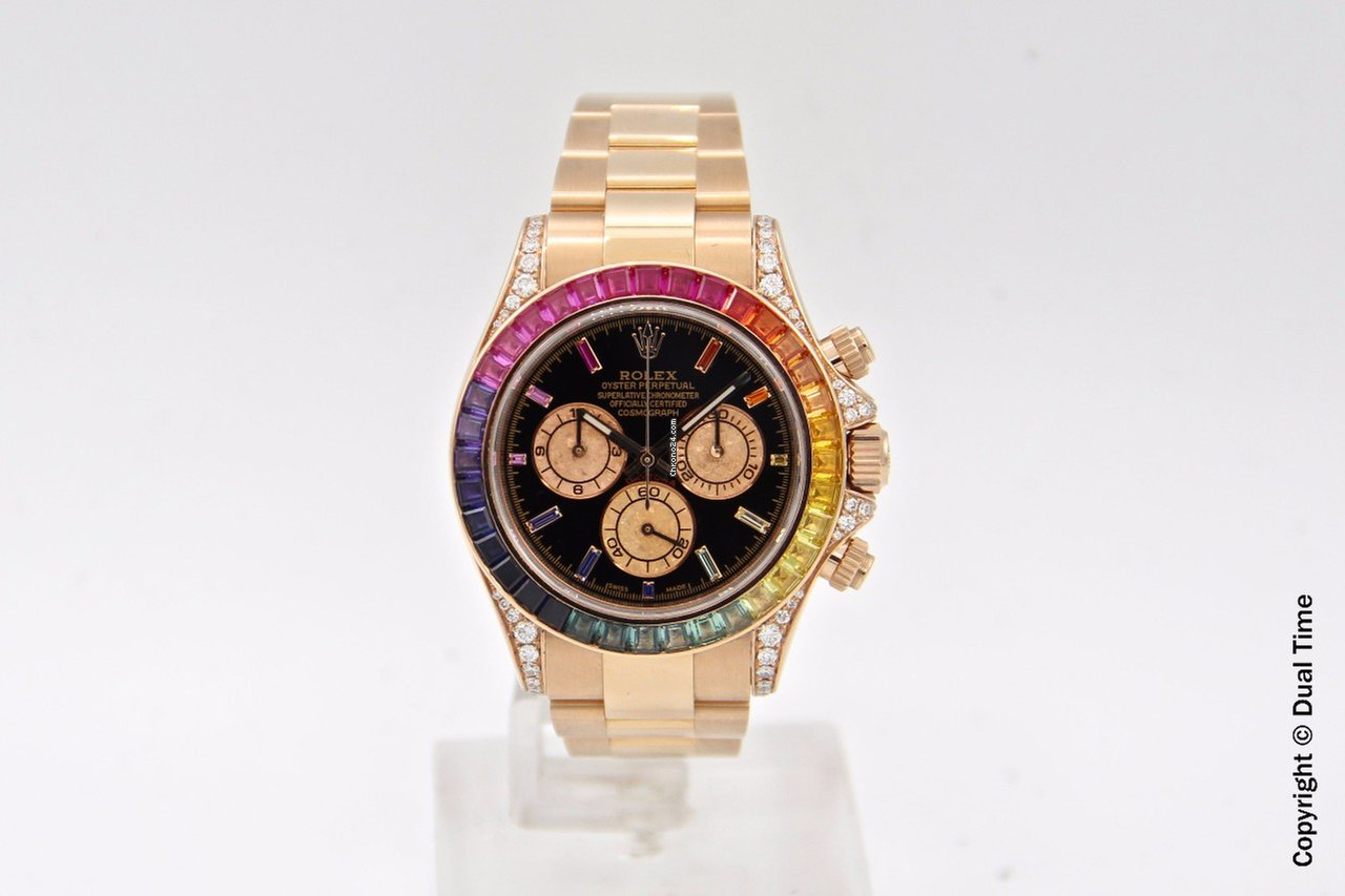 be8ec1b86b3 Rolex Daytona ref.116505 Rose Gold Custom Rainbow por R  147.810 para  vender por um Trusted Seller na Chrono24