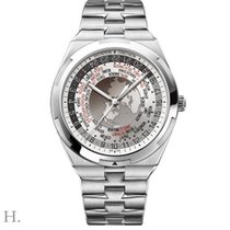 Vacheron Constantin Overseas World Time Steel 43.5mm Silver