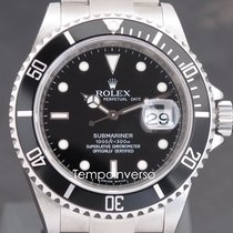 Rolex Submariner Date Stål 40mm Svart Ingen tall