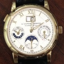 A. Lange & Söhne Yellow gold Automatic Champagne Roman numerals 38.5mm pre-owned Langematik Perpetual