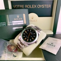 Rolex Milgauss Steel 40mm Black No numerals