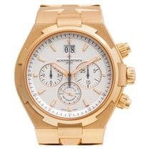 Vacheron Constantin Overseas Chronograph pre-owned 43mm Silver Chronograph Date Rose gold