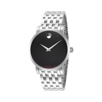 Movado Red Label Staal 38mm Zwart