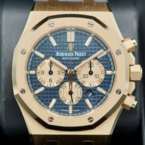 Audemars Piguet Royal Oak Chronograph Rose gold 41mm Blue No numerals United States of America, Massachusetts, Pittsfield