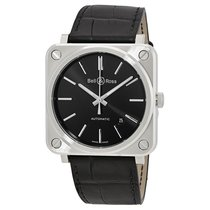 Bell & Ross Men's BRS92-BLC-ST/SCR Aviation Black Steel Auto...