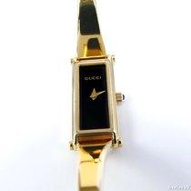 Gucci 1500L Black Dial 18k Gold