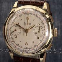 Zodiac Vintage Solid 18kt. Gold 37mm Chronograph Cal. Valjoux 22