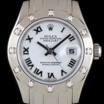 Rolex Pearlmaster Datejust White Gold Diamond Set Ladies 80319