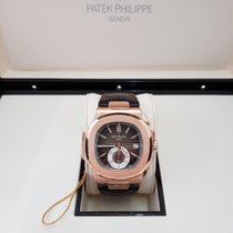 Patek Philippe Nautilus Rose gold 40.5mm Brown No numerals