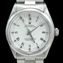 Rolex Oyster Perpetual 34 Acier 34mm Blanc Romain