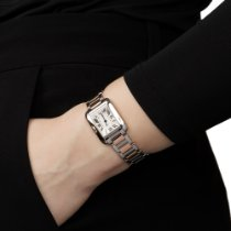 Cartier Tank Anglaise Gold/Steel 22mm Silver Roman numerals