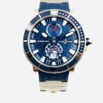 Ulysse Nardin Titanium Automatic Blue No numerals 45mm pre-owned Maxi Marine Diver