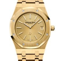 Audemars Piguet Royal Oak Jumbo Yellow gold 39mm Yellow No numerals