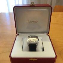 Cartier Acero Automático Blanco Romanos 41mm usados Santos 100