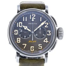 Zenith pre-owned Automatic 45mm Grey Sapphire Glass