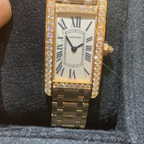 Cartier Tank Américaine Rose gold 19mm White Roman numerals United States of America, Florida, Miami